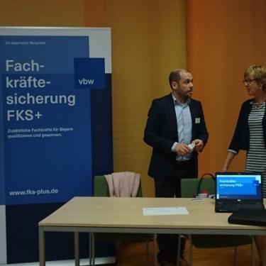 Die taskforce FSK war für Informationen vor Ort.